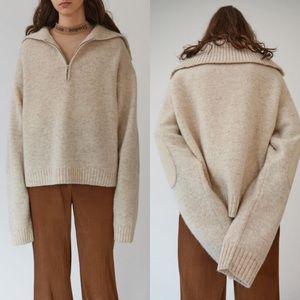 Acne Studios Sadea Wool Ivory Melange   Large